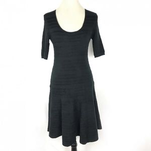 Mossimo Women Black Short Sleeve Sweater Dress M